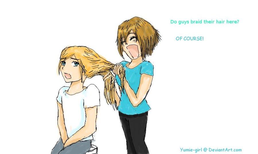 Braiding Tiel's Hair – Yumie